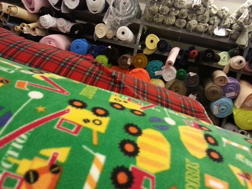Printed fleece fabric with Kids prints
