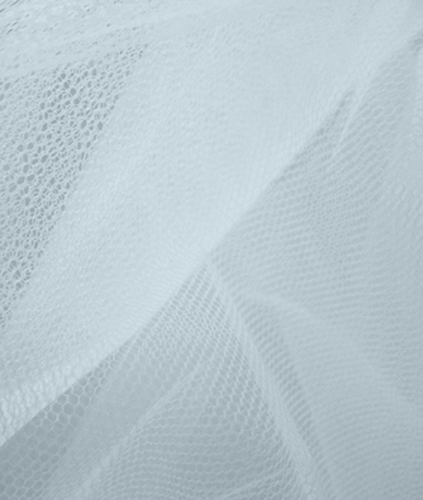 Nylon Dress Net - White