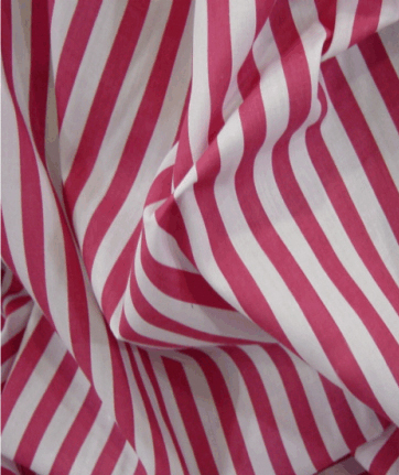 Poly Cotton 1 cm Stripe - Pink