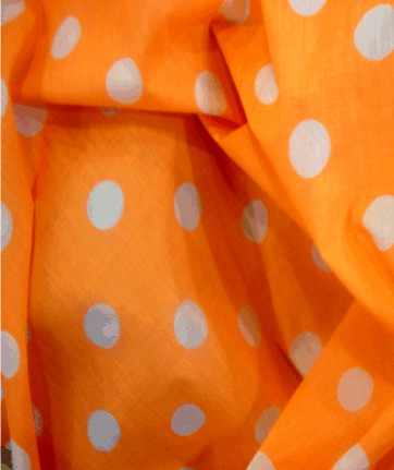 Spots Polka Dots - Dark Ground - Orange