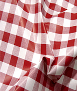 PVC Table Cloth Cafe Check 1 inch - Red