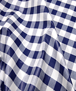 PVC Table Cloth Cafe Check 1 inch - Blue