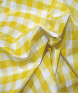 PVC Table Cloth Cafe Check 1 inch - Yellow