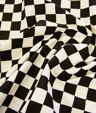 Chequered Flag -1 inch squares - Black