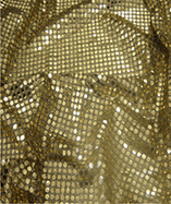 6mm Round Sequins - Gold/Black