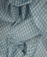 Gingham Check Quarter Inch check - Turqoise