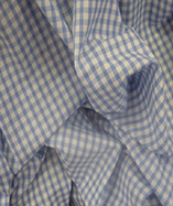 Gingham Check Quarter Inch check - Sky Blue