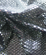 Diamond Sequin Fabric - Black/Silver (5)