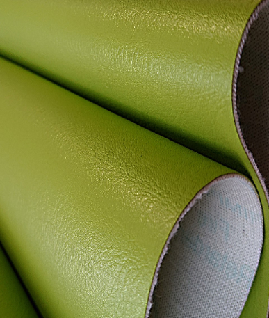 Just Colour Leatherette Fire retardant - Citrus Green