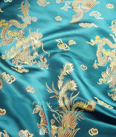 Chinese Dragon Brocade - Aqua Dragon 1