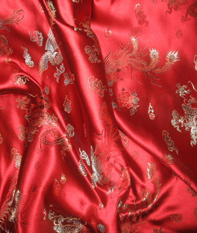 Chinese Dragon Brocade - Red Dragon 3