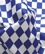 Chequered Flag -1 inch squares - Royal