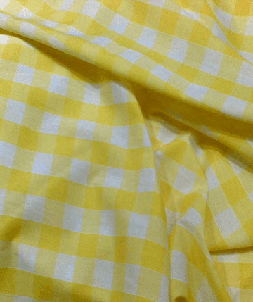 Gingham Fabric 1 Inch Check - Yellow