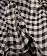 PVC Table Cloth Cafe Check 1 inch - Black