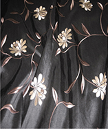Paris Curtain Fabric (4720) - Onyx (905)