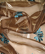 Parisienne Curtain Fabric-4721 - Chocolate (154)