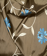 Paris Curtain Fabric (4720) - Chocolate (154)
