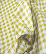 PVC Table Cloth Cafe Check half Inch - Yellow