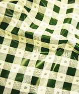 PVC Table Cloth Cafe Check half Inch - Green