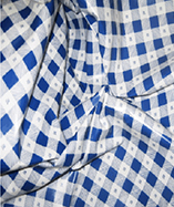 PVC Table Cloth Cafe Check half Inch - Blue
