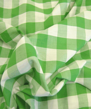 Gingham Fabric 1 Inch Check - Emerald