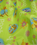 PVC Table Covering Disney Prints - Winnie Green