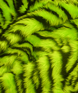 Printed Animal Furs - Lime Tiger