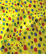 Multi coloured satin spots - Yellow