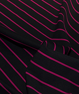 Butchers Stripe Teredo - Black - Pink Stripe