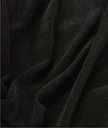 Stretch Toweling (single sided) - Black