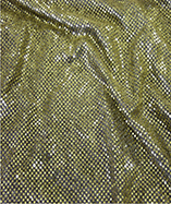 3mm Sequin Fabric - Gold/Black