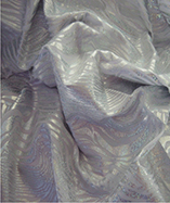 Lycra Fabric Hologram Foil (Zebra Design) - White