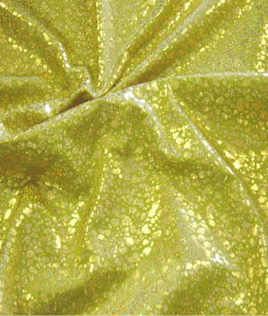 Lycra Fabric Hologram Foil (Cheatah Design) - Gold