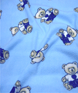 Kids Prints on Fleece - Blue Big Teddy