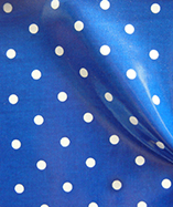 PVC Coated Full Stop Polka Dots - Sapphire