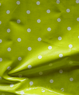 PVC Coated Full Stop Polka Dots - Citrus