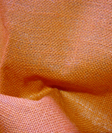 Hessian Fabric Laminated - Orange