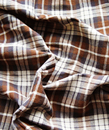 Tartan Fabric - Yarn Dyed - Brown (02)