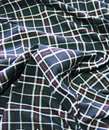 Tartan Fabric - Yarn Dyed - Navy (11)