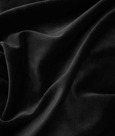 Velour velvet stretch material - Black