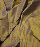 Silk Fabric - Dupion - Blue Gold (51)