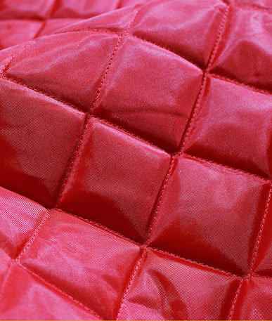 Quilted 4oz Waterproof Fabric Box Design - Red