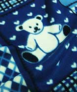 Teddy Bear Fleece - Navy 08