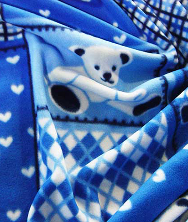 Teddy Bear Fleece - Sky Blue 10