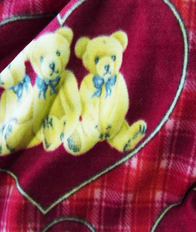 Teddy Bear Fleece - Red 14