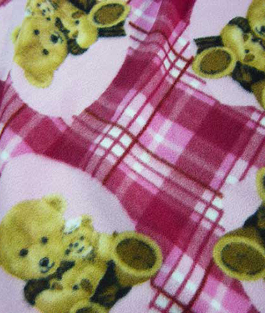 Teddy Bear Fleece - Powder Pink 21