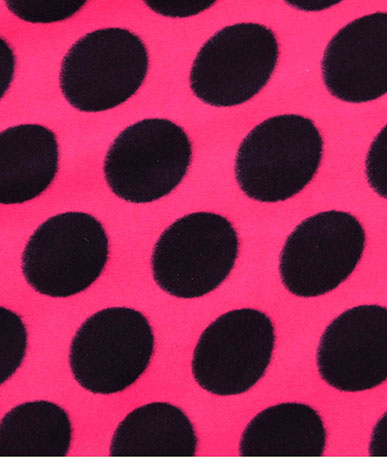 Cerise Big Spot Fleece - Black Spots 18