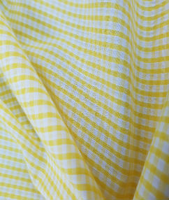 Gingham Check-1/8 Small Check - Yellow