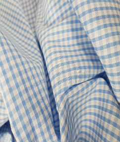 Gingham Check-1/8 Small Check - Blue