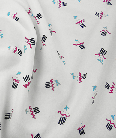 Abstract design Chiffon - Abstract Design Chiffon